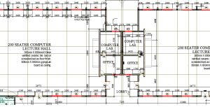 LECTURE HALL FLOOR PLAN AUTOCAD FILE for free download