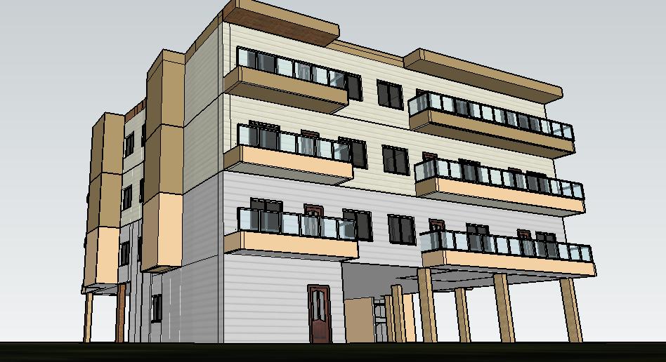 5 bedroom duplex 3D design Sketchup files