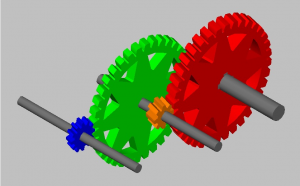 A Helical Compound Gear Train AutoCAD 3D file