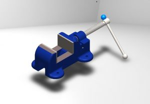 Mechanical Bench vice Solidworks file