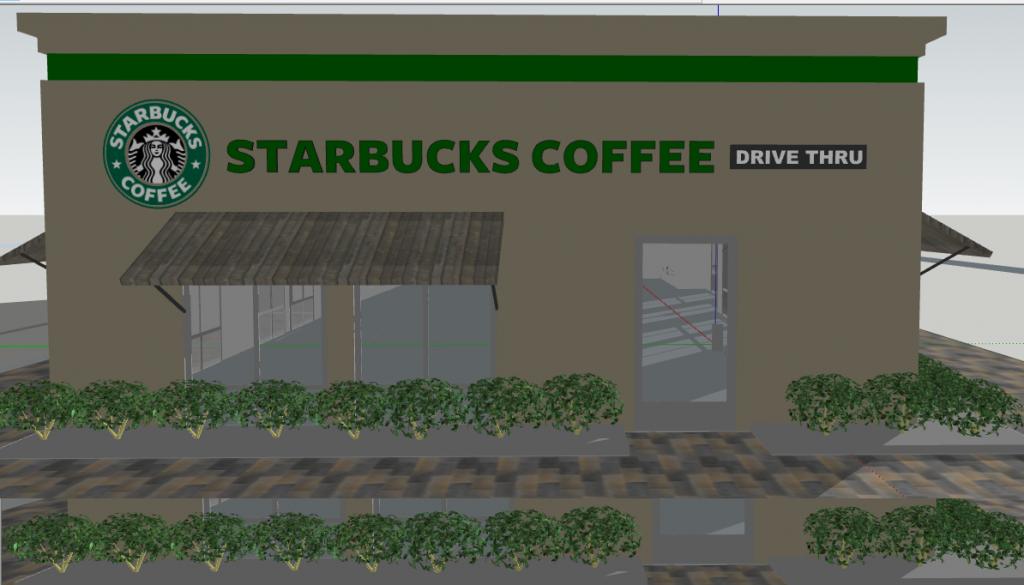 Starbucks Coffee Store 3D Sketchup Files | Editable Files
