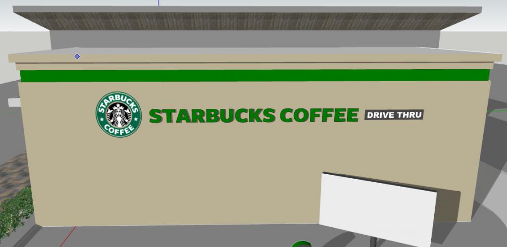 Starbucks Coffee Store 3D design Sketchup files