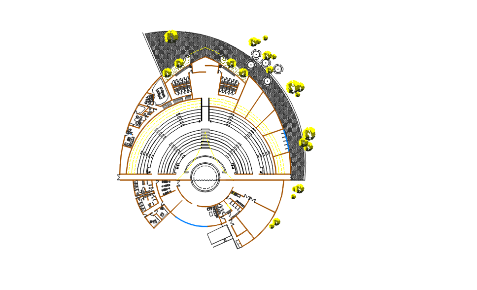 Modern Cinemas design AutoCAD file