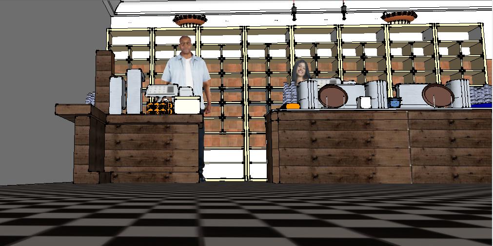 Coffee shop 3D design Sketchup files
