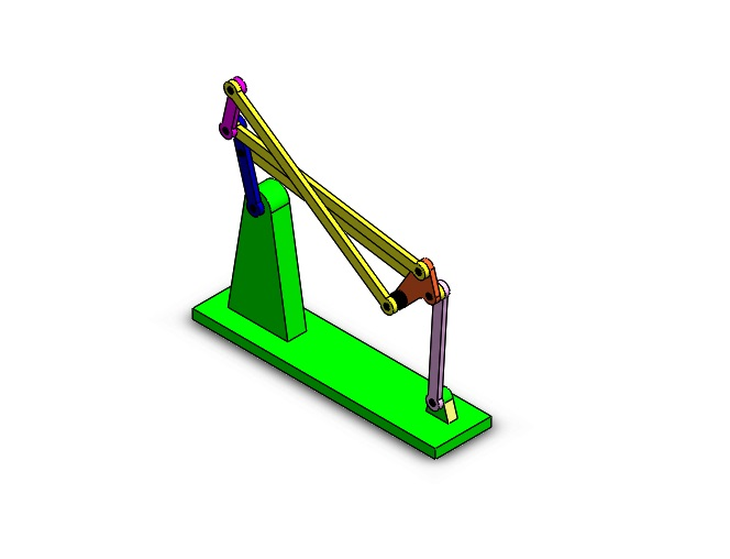 Four bar linkage parallel Solidworks assembly files