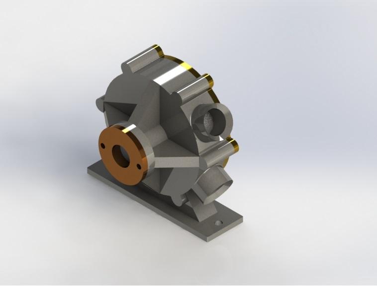 rotary vane pump 3D