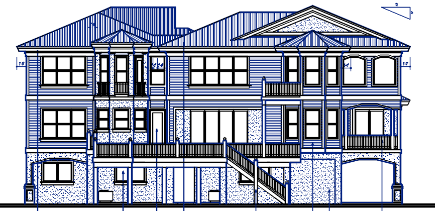 Two Story Big House design Complete AutoCAD file