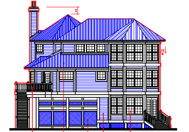 G+3 Resident House design Complete AutoCAD file