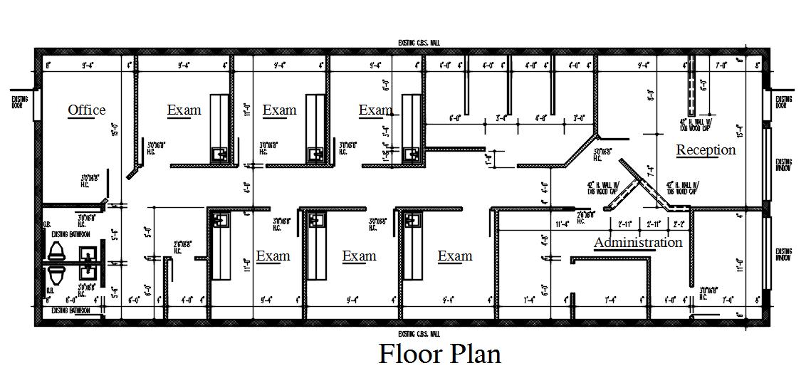Test Laboratory Rooms Design in AutoCAD