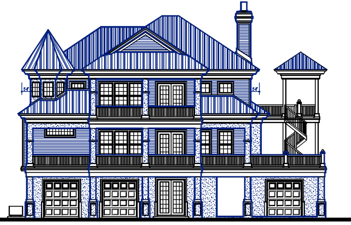 Big Family Classical House design Complete AutoCAD file