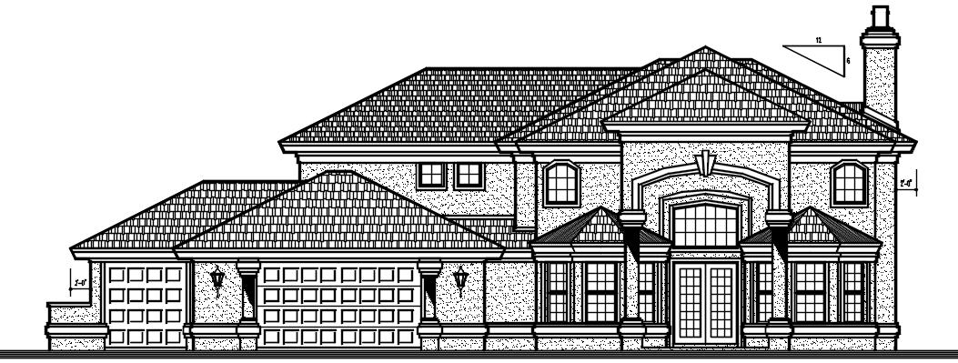 House design Complete AutoCAD file
