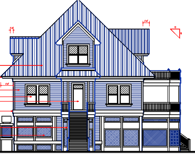 Ground +1 house with basement design Complete AutoCAD file