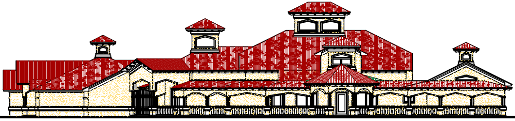 Big Classical Residential House design Complete AutoCAD file