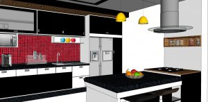 Beautiful Kitchen Interior File for Free Download