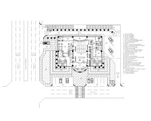 Bank Head Office Masterplan Drawing File for Free Download