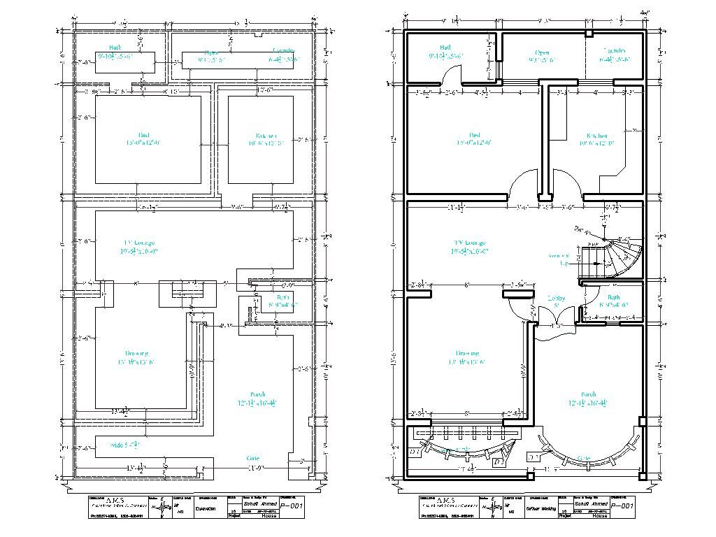 27 x 50 House Floor Plan